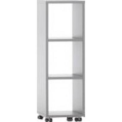 Meuble étagère gris design en panneaux de particules mélaminés de haute qualité L. 40 x P. 35 x H. 120,2 cm collection Inscribe
