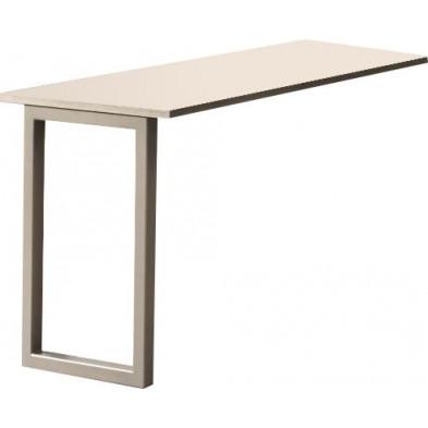 Table d'appoint de bureaux gris contemporain en panneaux de particules mélaminés de haute qualité L. 120 x P. 60 x H. 75,5 cm collection Nijsink