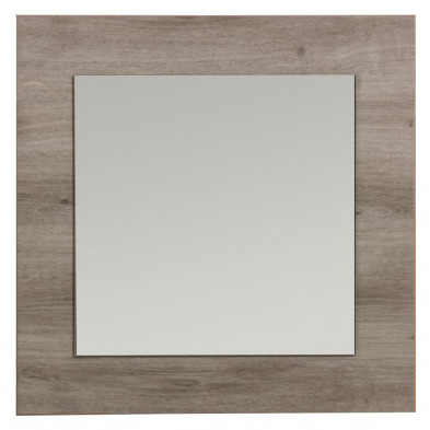 Miroir marron romantique en panneaux de particules de haute qualité  L. 60 x H. 60 cm collection Wittgert
