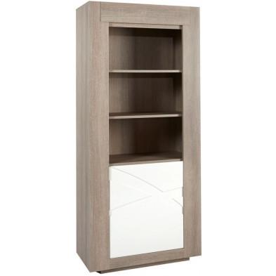 Bibliothèque blanc contemporain en bois mdf L. 90 x P. 45 x H. 200 cm collection Radicondoli