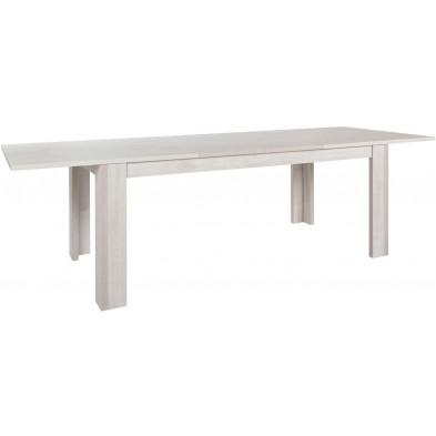 Table de salle à manger marron contemporain en bois mdf  collection Villamalur