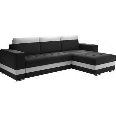 Canapés d'angle convertibles et réversible noir design en acier 4 places L. 258 x P. 82 x H. 75-80 cm collection ELENA