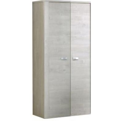 Armoire 2 portes beige moderne en panneaux de particules mélaminés de haute qualité  L. 100 x P. 53 x H. 202 cm collection Ribeirabrava