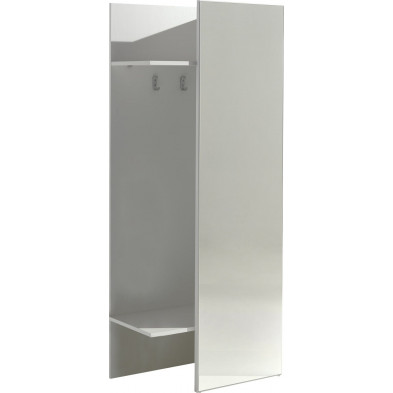 Porte manteau blanc moderne L.75 x l.40 x H.180 cm   collection Mager