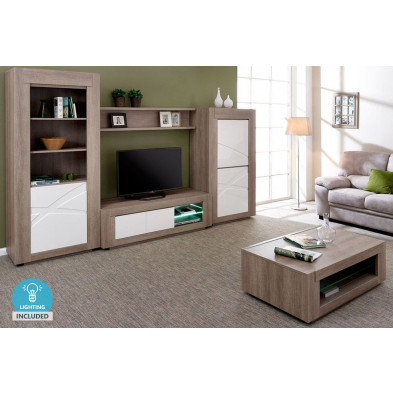 Ensemble meuble tv blanc contemporain en bois mdf  collection Radicondoli