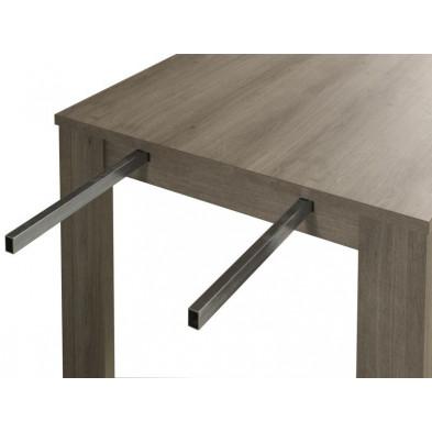 Table de salle à manger  gris contemporain en bois mdf  L. 88 x H. 75 cm collection Rudy