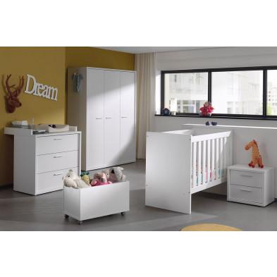 Chambre bébé complète blanc moderne en panneaux de particules de haute qualité collection Gans