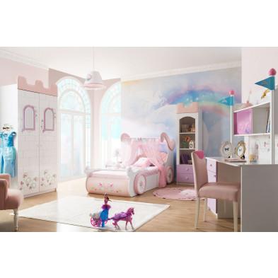 Chambre enfant complète blanc romantique en collection Azzone