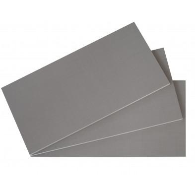 Lot de 3 étagères coloris gris pour l'armoire L. 43 x H. 2 cm collection collection Morabito