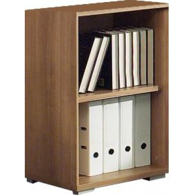 Meuble étagère marron contemporain en panneaux de particules mélaminés de haute qualité L. 46,9 x P. 42 x H. 76,3 cm collection Uersfeld