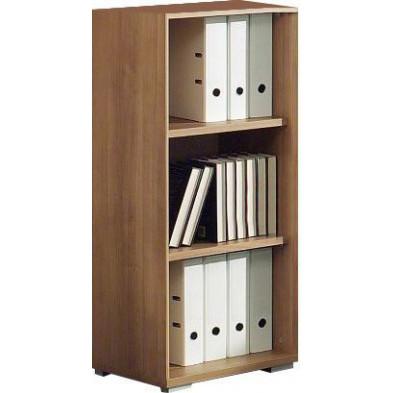 Meuble étagère marron contemporain en panneaux de particules mélaminés de haute qualité L. 46,9 x P. 42 x H. 110,8 cm collection Uersfeld