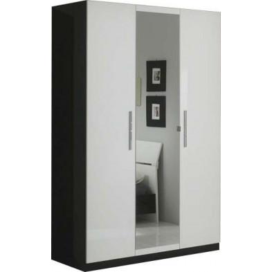 Armoire enfant blanc design en panneaux de particules de haute qualité L. 135 x P. 58 x H. 210 cm collection Helgoland