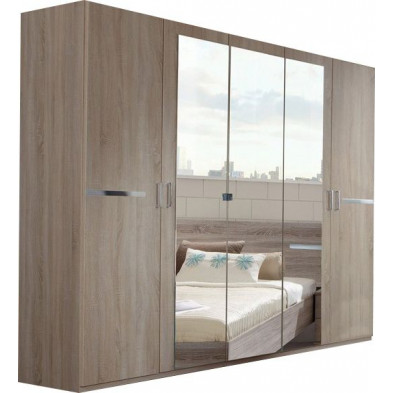 Armoire adulte marron contemporain L. 225 x P. 58 x H. 210 cm collection Niederrasen