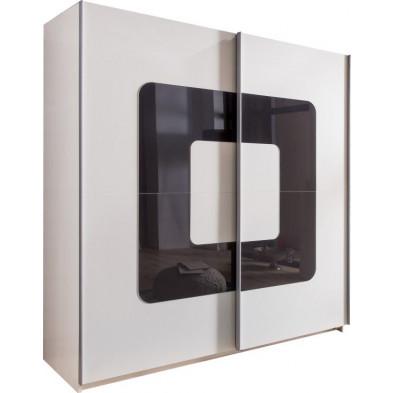 Armoire porte coulissante blanc design en panneaux de particules de haute qualité L. 180 x P. 64 x H. 198 cm collection Qualls