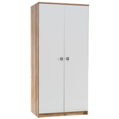 Armoire enfant Marron et Blanc contemporain en collection Schauenstein