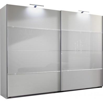 Armoire adulte blanc design L. 225 x P. 65 x H. 210 cm collection Cefnypant