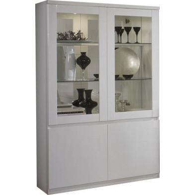 Vitrine blanc design en panneaux de particules de haute qualité L. 115 x P. 40 x H. 191 cm collection Join