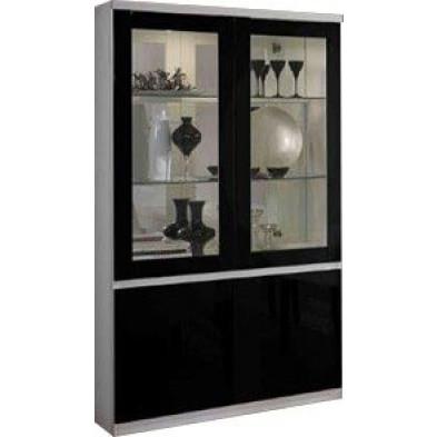 Vitrine blanc design en panneaux de particules de haute qualité L. 115 x P. 40 x H. 191 cm collection Endrizzi