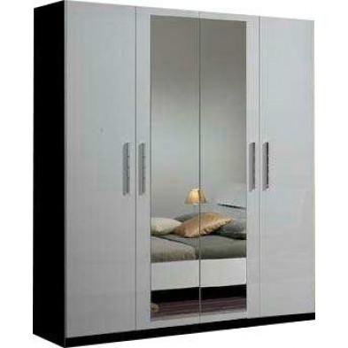 Armoire adulte blanc design en panneaux de particules de haute qualité L. 180 x P. 58 x H. 210 cm collection Helgoland