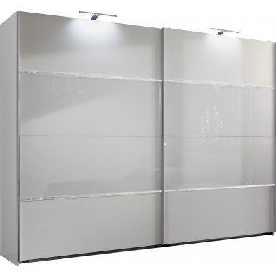 Armoire adulte blanc design L. 270 x P. 65 x H. 210 cm collection Cefnypant