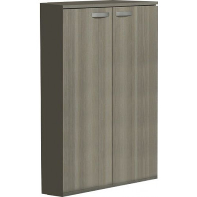 Meuble de rangement gris contemporain L. 90 x P. 42 x H. 116 cm  collection Bioul