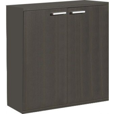 Meuble de rangement marron contemporain L. 90 x P. 42 x H. 80 cm  collection Elvia
