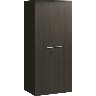 Armoire  de rangement marron contemporain L. 90 x P. 42 x H. 192 cm collection Elvia