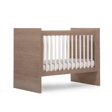 Lit enfant évolutif moderne coloris chêne en bois MDF et panneaux de particules de haute qualité 90x200 Collection Inga