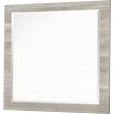 Miroir contemporain beige en panneaux de particules mélaminés L. 60 x P. 2 x H. 60 cm Collection Cirignano