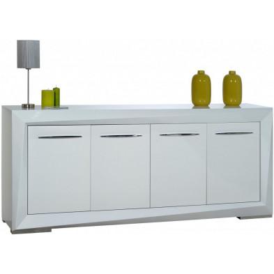 Buffet - bahut - enfilade blanc design en panneaux de particules de haute qualité L. 220 x P. 50 x H. 93 cm collection Gamizfika