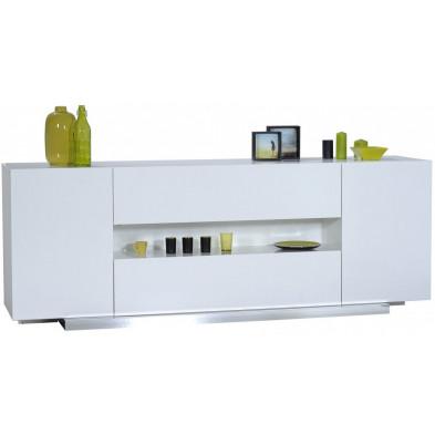 Buffet - bahut - enfilade blanc design L. 220 x P. 55 x H. 80 cm collection Giddy