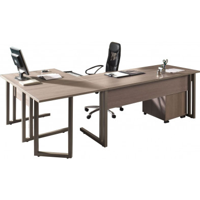 Bureau entreprise gris contemporain en cm de largeur collection Nijsink