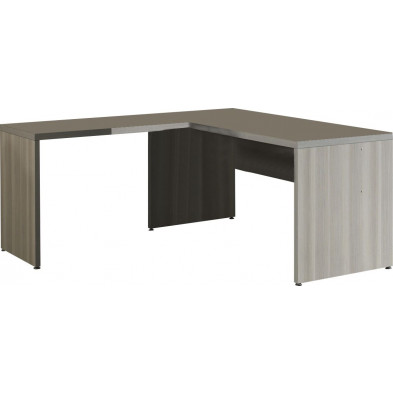 Bureau d'angle gris contemporain  L 160 cm x H 74 cm x P 80 cm collection Bioul