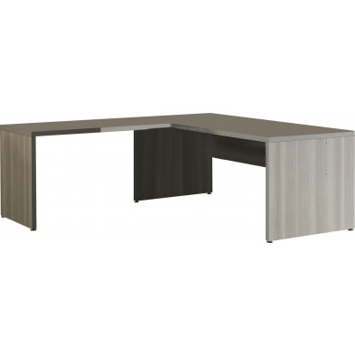 Bureau  gris contemporain L 200 cm x H 74 cm x P 80 cm  collection Bioul