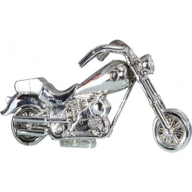 Figurine ultra moderne Moto argentée 13 cm collection Clover