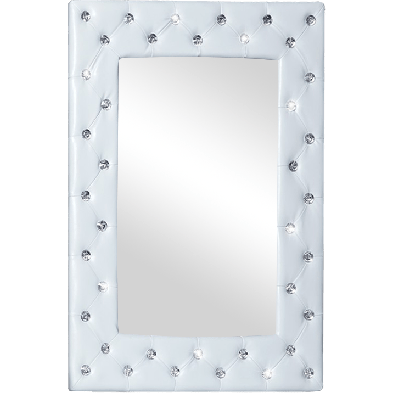 Miroir design blanc en PVC  L. 60 x P. 5 x H. 80 cm Collection Bev
