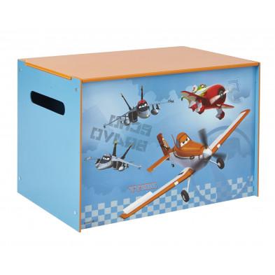 Coffre à jouets enfant design Disney Planes  L. 60 x P. 40 x H. 40 cm  collection Sijtsma