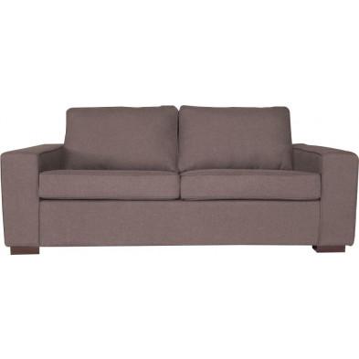 Canapé lit gris moderne en tissu 2 places collection Mixed