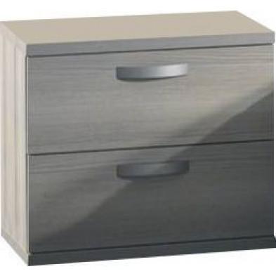 Chevet - table de nuit gris contemporain en panneaux de particules de haute qualité  collection Morville