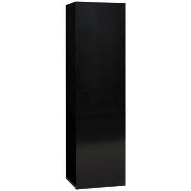 Meuble mural noir design en panneaux de particules de haute qualité L. 35 x P. 30 x H. 125 cm collection Bosavern
