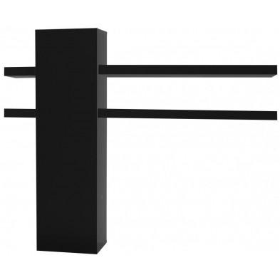 Meuble mural noir design en panneaux de particules de haute qualité L. 152 x P. 30 x H. 125 cm collection Bosavern