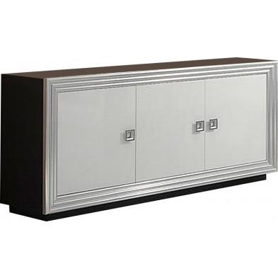 Buffet - bahut - enfilade noir design L. 185 x P. 48 x H. 85 cm collection Regen