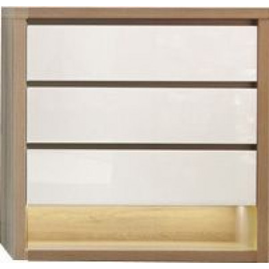 Commode - coiffeuse blanc moderne L. 112.7 x P. 48 x H. 83.8 cm collection Youngstown