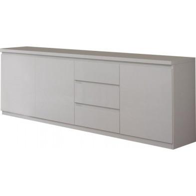 Buffet - bahut - enfilade blanc design en panneaux de particules de haute qualité L. 220 x P. 50 x H. 83 cm collection Join