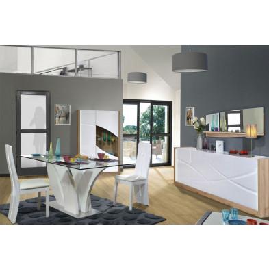 Salle à manger complète blanc design en collection Meera