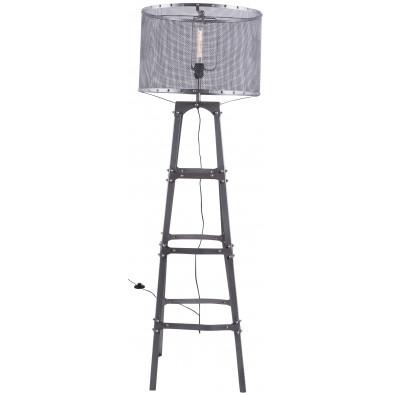 Lampadaire industriel gris en fer forgé d'une hauteur de 153 cm Collection Connection
