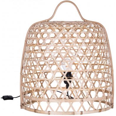 Lampadaire design beige en bambou d'une hauteur de 53 cm Collection Connection