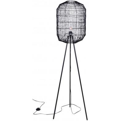 Lampadaire design noir en fer forgé d'une hauteur de 160 cm Collection Connection