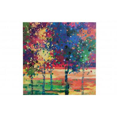 Toiles et tableaux multicouleur design L. 60 x P. 2,5 x H. 60 cm toile collection Masterson