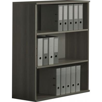Meuble étagère gris contemporain L. 90 x P. 42 x H. 116 cm  collection Bioul